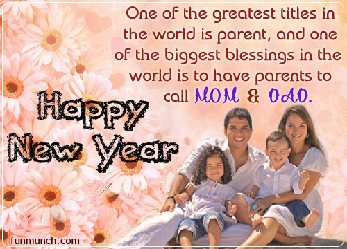 Happy New Year 2017 Wishes Greeting Cards For Father & Mother