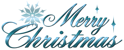 Blue Merry Christmas 2016 Clipart